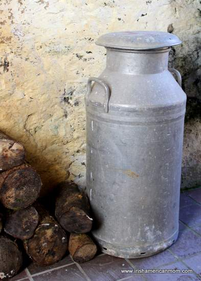 An old Irish milk churn, or creamery can