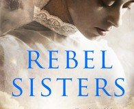 Woman with a lace collar on the book cover of Rebel Sisters
