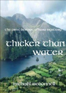 An Irish lake featured on the cover of Thicker Than Water by Michael McDonnell