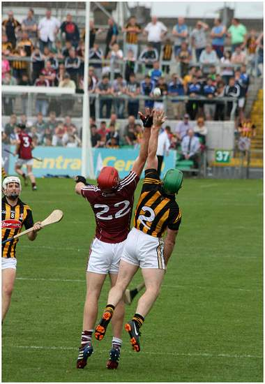 Kilkenny vs Galway in a hurling match