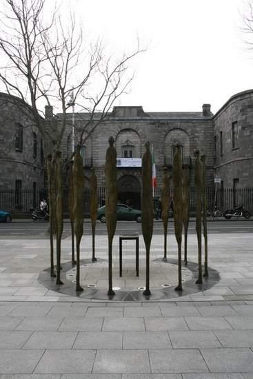 Memorial to those executed in 1916 outside Kilmainham Gaol