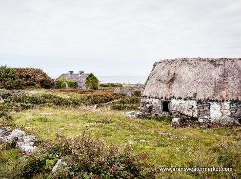 Old Irish cottages on Inis Mor, Aran Islands