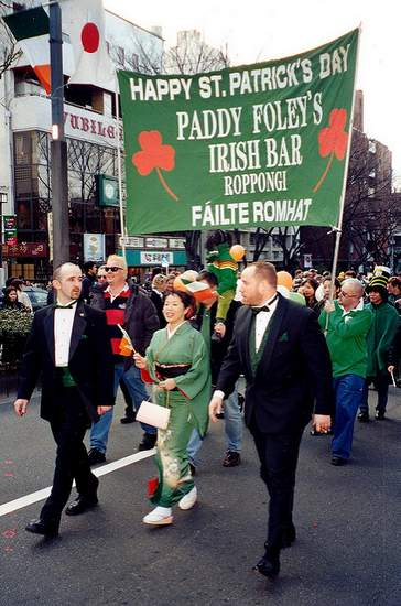 St. Patrick's Day Parade in Tokyo