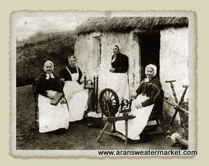 aran-sweaters-production in the past
