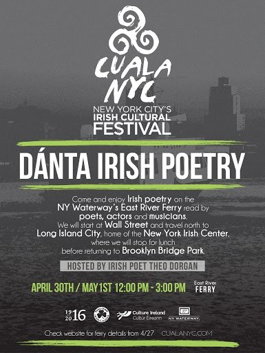 Dánta Irish Poetry part of CualaNYC Irish Cultural Festival