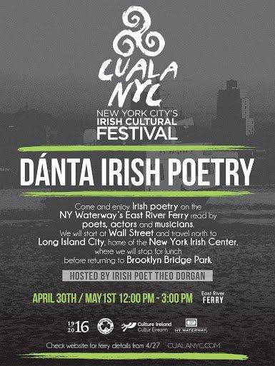 Dánta Irish Poetry part of CualaNYC Irish Cultural Festival
