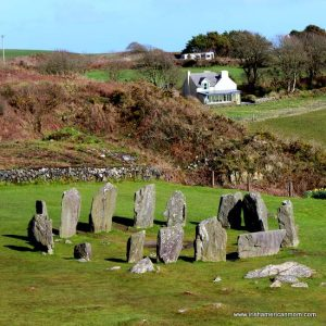 Looking down on Drombeg Stone Circle