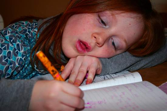 It's not easy to focus on all that boring homework