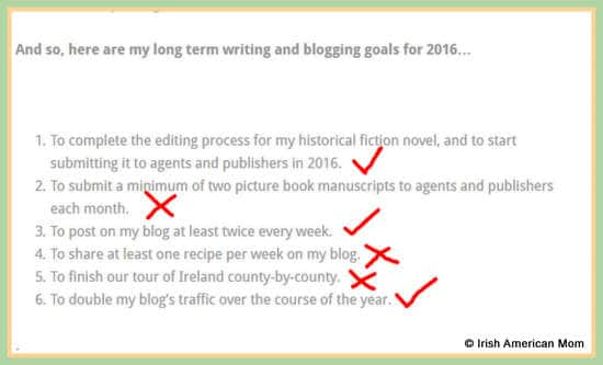 Long Term Blogging Goals for Irish American Mom