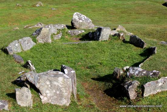 Markings of the stone hut at Drombeg Stone Circle