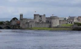 Looking at St. John's Castle Limerick from across the River Shannon