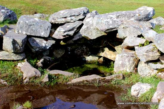 The well in the stone huts at Drombeg Stone Circle