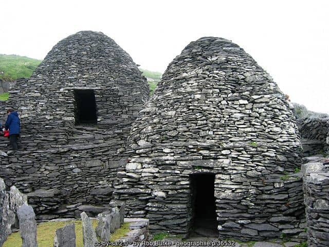 Beehive Huts on Skellig Michael County Kerry