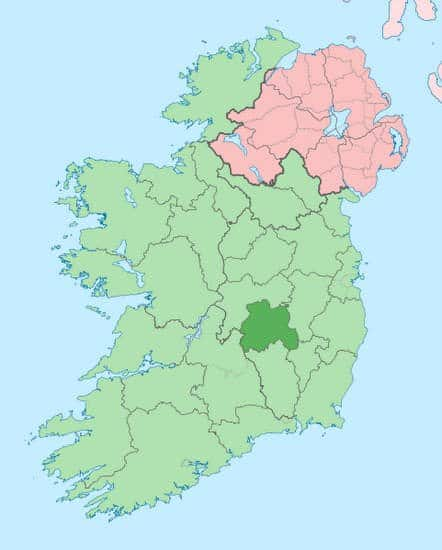 County of Laois on an Ireland county location map