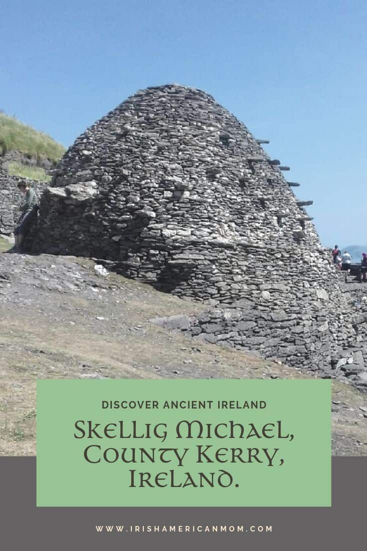 Beehive huts were built by monks who lived on the isolated island of Skellig Michael off the coast of County Kerry.