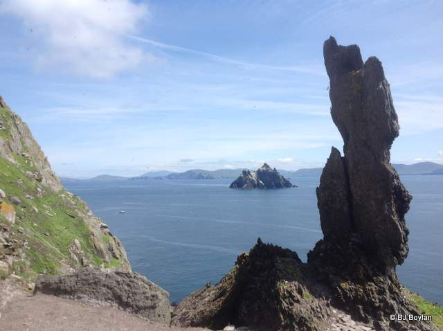 Skellig Michael looking towards Little Skellig