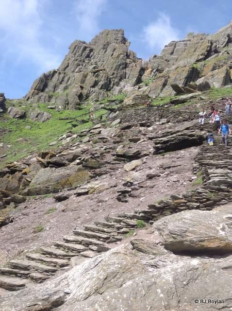 Stone steps on Skellig Michael