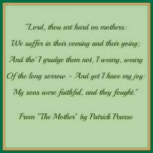 Graphic with excerpt from The Mother by Patrick Pearse