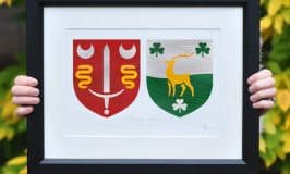 Modern design Irish clan art work