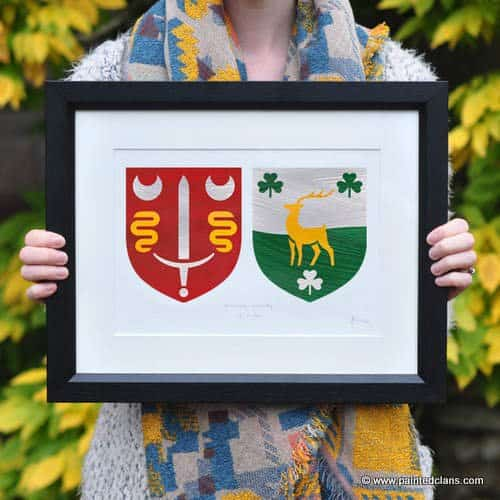 Irish Clan personalized and original painting by Painted Clans