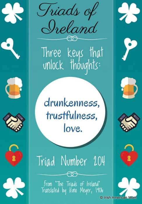 Three keys that unlock thoughts from the Triads of Ireland