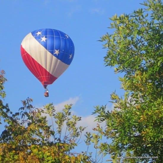 A Patriotic Hot Air Balloon