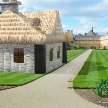 an Irish cottage inflatable for outdoor parties