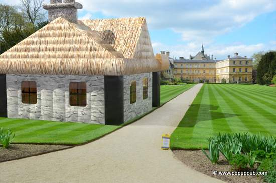 An Irish Cottage inflatable for rent for outdoor parties and celebrations