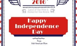Happy Independence Day Graphic from Irish American Mom
