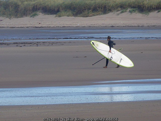 Heading to the water near Tralee County Kerry to go surfing