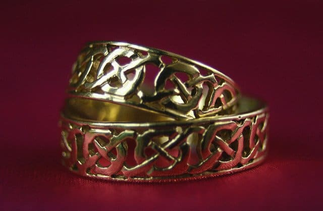 Irish celtic wedding bands