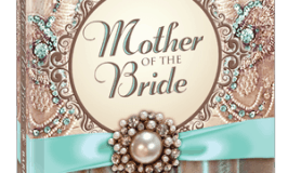 Mother of the Bride book cover featuring a brooch and brocade design