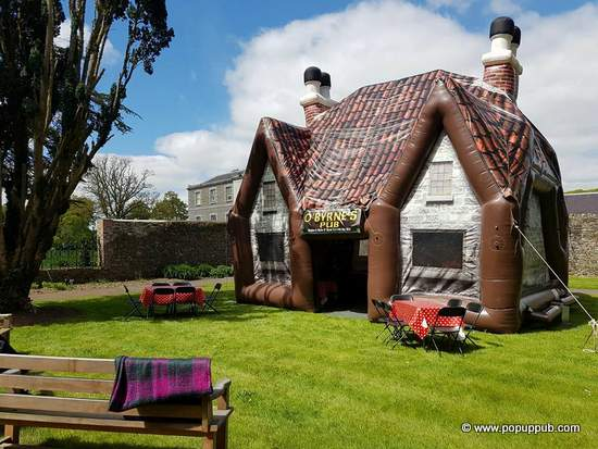 O'BYRNES PUB - an example of an Irish outdoor pop-up inflatable pub for parties and celebrations