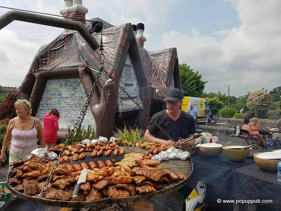 Pop up Irish pub at a BBQ in Carrickmackross, County Monaghan