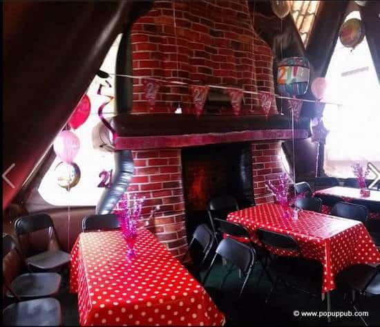 Pub interior in a rentable pop-up Irish pub - inflatable pub for parties-001