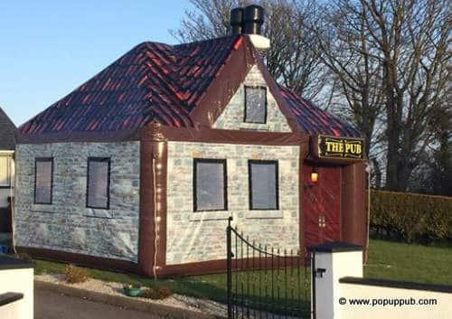 Rentable Irish pub for outdoor parties - pop up pub