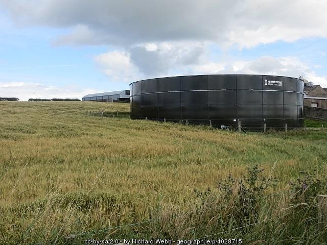 Slurry tank on a Northern Ireland farm