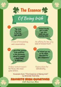 Favorite Irish Quotations on The Essence of Being Irish