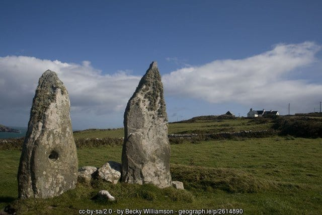 The Marriage Stones on Cape Clear Island County Cork
