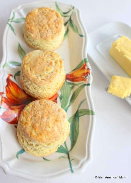 Three Irish buttermilk scones