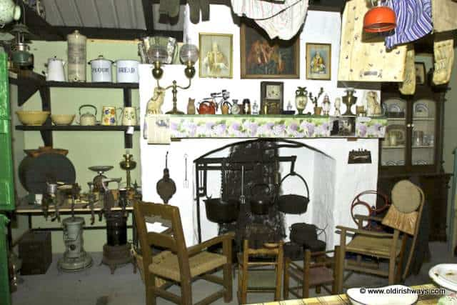 An Irish kitchen from days gone by - Old Irish Ways Museum Bruff Limerick Ireland