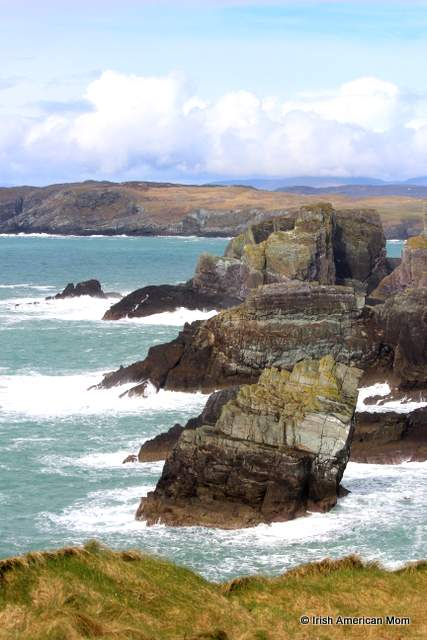 Cliffs that look like three elephant heads at Mizen Head