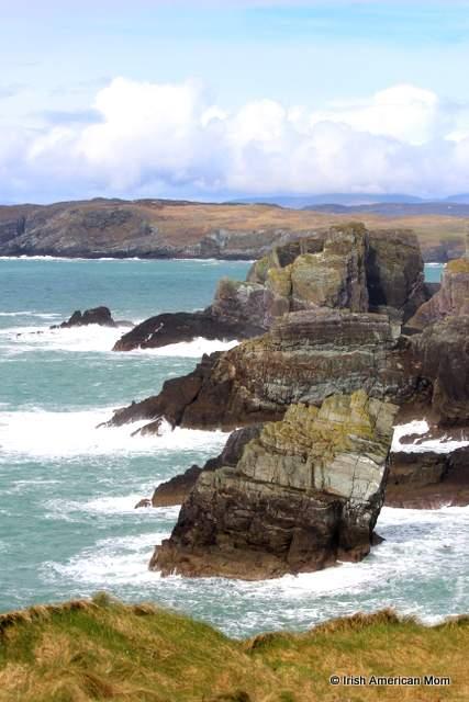 Cliffs that look like three elephant heads at Mizen Head
