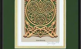May your troubles be less Celtic art