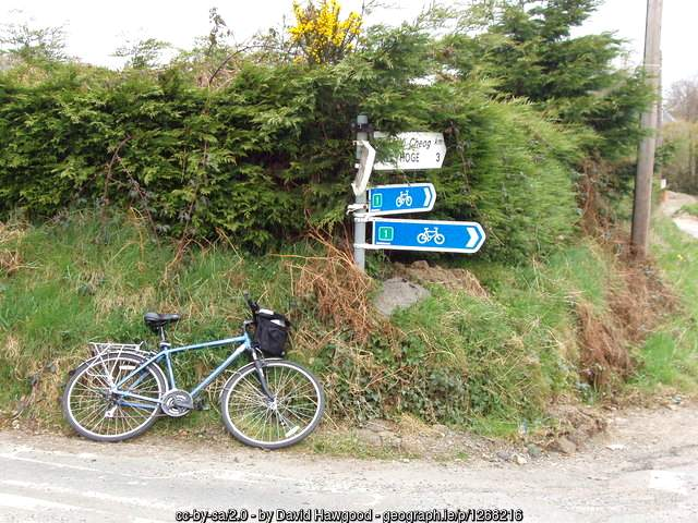 cycle-route-sign-in-killurin-county-wexford