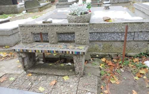 Graveyard Seat in Warsaw, Poland.