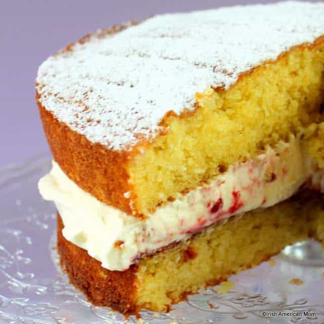 victoria-sponge-with-cream-and-raspberry-jam