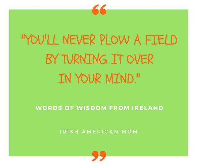 You'll never plow a field by turning it over in your mind.