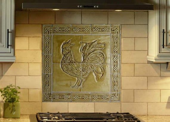 celtic-backsplash-with-rooster-design