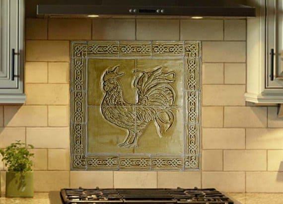 celtic-backsplash-with-rooster-design
